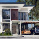 บ้านสองชั้น 2 ห้องนอน ที่ตกแต่งในสไตล์โมเดิร์น หลังคาเพิงฯ โดดเด่นในรูปทรง สะท้อนการเลือกที่อยู่อาศัยแบบมีระดับ