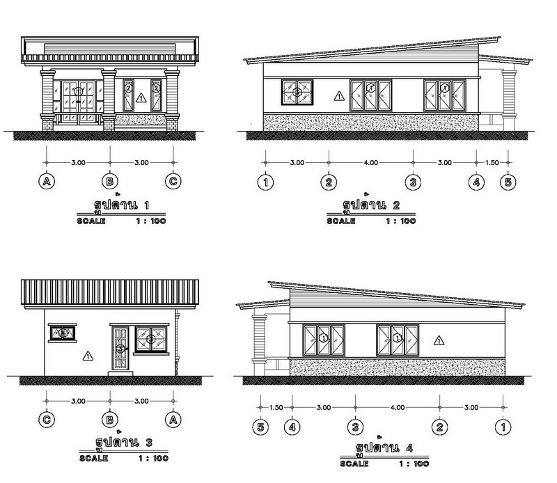 600k 2 bedroom casual modern thai house plan (2)