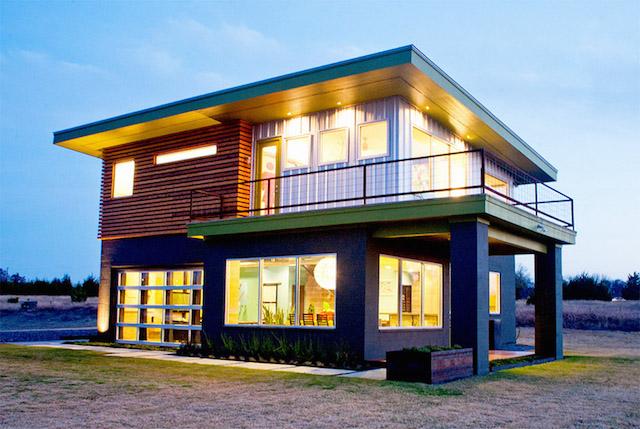 black green 2 storey loft modern house1