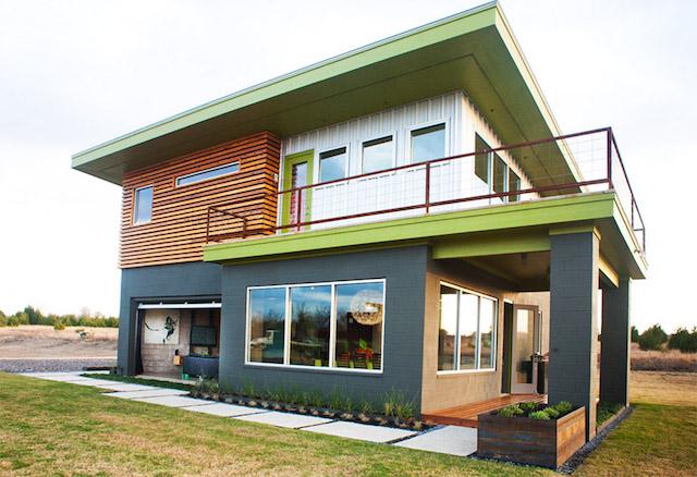 black green 2 storey loft modern house2