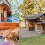 กระท่อมบ้านดินน่ารัก มีชั้นสองพร้อมระเบียง ก่อสร้างด้วยวัสดุง่ายๆ ตามสไตล์วิถีชนบท