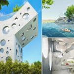 """สุดเจ๋ง!! พาชม """"บ้านทรงตัว Y"""" ดีไซน์แปลกใหม่  ออกแบบเพื่อการพักผ่อนของคนเมือง มาพร้อมสระว่ายน้ำบนดาดฟ้า!!"""