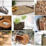 """รวม 32 ไอเดีย DIY สร้างของใช้ ของแต่งบ้าน ด้วย """"ท่อนไม้"""""""