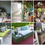 30 ไอเดีย DIY พื้นที่พักผ่อนเฉลียงและสวนหลังบ้าน สร้างง่ายๆตกแต่งร่วมกับพรรณไม้