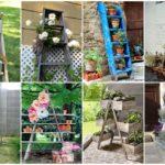 """26 ไอเดีย """"บันไดไม้"""" ประยุกต์ตกแต่งสวน ในสไตล์ DIY ทำง่ายๆได้ความสวยงาม"""