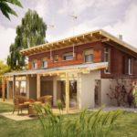 บ้านไม้สองชั้น หลังคาทรงเพิงฯ 3 ห้องนอน 3 ห้องน้ำ ตกแต่งสวยงามท่ามกลางธรรมชาติ