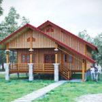 แบบบ้านไม้ชั้นเดียวสไตล์ไทยชนบท โครงสร้างยกสูงเหมาะกับทุกสภาพพื้นดิน ในรูปแบบดั้งเดิมแสนอบอุ่น