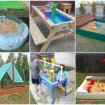 """รวม 33 ไอเดีย """"กระบะทราย"""" พื้นที่เล่น เสริมพัฒนาการสำหรับเด็ก ในรูปแบบ DIY จากของเหลือใช้"""