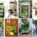 รวม 30 ไอเดีย DIY ดัดแปลงเฟอร์นิเจอร์เก่า สร้างเป็นกระถางดอกไม้ ตกแต่งสวน