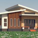 แบบบ้านโมเดิร์นชั้นเดียว 2 ห้องนอน 1 ห้องน้ำ แต่งผนังผสมสามสไตล์ ก่อสร้างง่ายด้วยอิฐนาโน