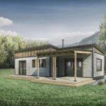บ้านหลังเล็ก กะทัดรัด ออกแบบในสไตล์เคบิน 2 ห้องนอน 1 ห้องน้ำ ไอเดียบ้านพักอาศัยที่เหมาะกับครอบครัวแรกเริ่ม