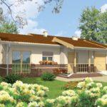บ้านร่วมสมัย หลังคาทรงจั่ว ตกแต่งด้วยอิฐโชว์แนว 2 ห้องนอน 2 ห้องน้ำ