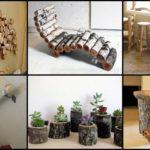 """32 ไอเดียของแต่งบ้านจาก """"ท่อนไม้"""" เติมธรรมชาติให้กับการใช้ชีวิต มีหลากหลายรูปแบบให้เลือกชม"""