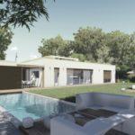 บ้านชั้นเดียว สไตล์โมเดิร์น ดีไซน์แบบกล่อง พร้อมพื้นที่โล่งกลางบ้าน 5 ห้องนอน 4 ห้องน้ำ