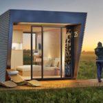 บ้านพักชั่วคราว ดีไซน์แบบโมเดิร์นเคบิน ไม้ เหล็ก กระจก ไอเดียที่เหมาะกับการประยุกต์เป็นสตูดิโอ ออฟฟิศ ร้านกาแฟ