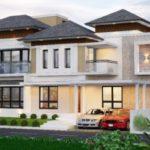 บ้านหลังใหญ่ ดีไซน์สองชั้น ออกแบบให้มีความภูมิฐานในรูปทรง 3 ห้องนอน 3 ห้องน้ำ