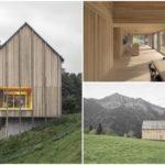 บ้านตากอากาศบนเนินเขา ดีไซน์แบบมินิมอล บิวท์อินด้วยงานไม้ทั้งหลัง