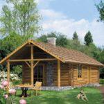 บ้านกระท่อมท้ายสวน ตกแต่งด้วยงานไม้ พร้อม 2 ห้องนอน 1 ห้องน้ำภายใน