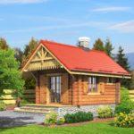 บ้านพักชั่วคราว หลังเล็กกะทัดรัด ตกแต่งด้วยงานไม้ 1 ห้องโถงโล่ง 1 ห้องน้ำภายใน