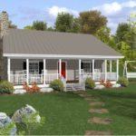 บ้านไม้สไตล์บังกะโล 2 ห้องนอน 1 ห้องน้ำ ดีไซน์พร้อมเฉลียงสองฝั่ง ไอเดียบ้านที่เหมาะกับครอบครัวขนาดเล็ก