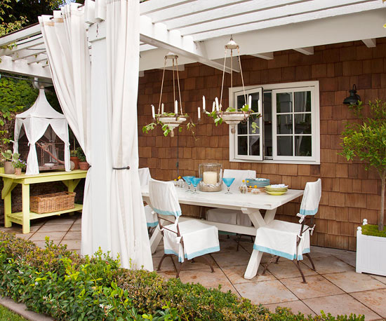 24 diy for Ideas para decorar un patio trasero