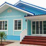แบบบ้านคอทเทจสีฟ้า 3 ห้องนอน บรรยากาศอบอุ่น ผสมอารมณ์สดใส ในงบประมาณ 800,000 บาทต้นๆ
