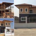 สร้างบ้านสองชั้นหลังแรกในชีวิต เก็บงานรวดเร็ว แค่เดือนเดียวโครงหลังคาก็มาเต็ม!!