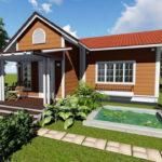 แบบบ้านสวนหลังน้อยแสนอบอุ่น ดีไซน์เรียบง่ายกะทัดรัด ออกแบบเพื่อชีวิตคู่รักแสนหวาน