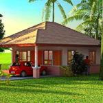 แบบบ้านชั้นเดียวทรงปั้นหยา ขนาดเล็กน่ารัก บรรยากาศอบอุ่น สำหรับชีวิตครอบครัวน้อยๆ