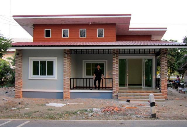 บ้านชั้นเดียวสไตล์โมเดิร์นทรอปิคอล 2 ห้องนอน 1 ห้องน้ำ ออกแบบ ซื้อวัสดุ และคุมงานด้วยตัวเอง รวมหมดทุกอย่าง 530,000 บาท!!