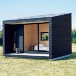 บ้านพักชั่วคราว ขนาดเล็กกะทัดรัด สไตล์มินิมอล ไอเดียเบื้องต้น ที่เหมาะกับประยุกต์ทำเป็นบ้านสวน บ้านตากอากาศ