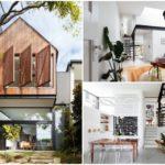 บ้านโมเดิร์น สองชั้น ขนาดกะทัดรัด ดีไซน์ทันสมัย ตกแต่งด้วยงานไม้ กระจก ท่ามกลางสวนสวย