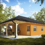 บ้านพักชั่วคราว หลังเล็กกะทัดรัด ตกแต่งโทนสีส้มอิฐ 1 ห้องนอน 1 ห้องน้ำ รองรับการพักผ่อนแบบบ้านสวน