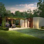 บ้านโมเดิร์นหลังเล็ก ตกแต่งเพียงน้อย พร้อมซุ้มไม้และสวนหลังคา 2 ห้องนอน 2 ห้องน้ำ