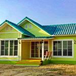 แบบบ้านชั้นเดียวสไตล์วินเทจ 2 ห้องนอน โทนสีเขียวสดชื่น ร่มรื่นไปกับอารมณ์บ้านสวน