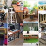 รวม 25 ไอเดีย DIY โต๊ะและพื้นที่พักผ่อนบนเฉลียง เพิ่มความงามแฝงฟังก์ชันการใช้งานเพิ่มเติม