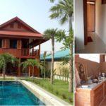 บ้านไม้สักขนาดสองชั้น บรรยากาศแบบบ้านชนบทไทย แต่จัดเต็มฟังก์ชั่นทันสมัย อยู่สบายใกล้ชิดธรรมชาติ