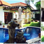 บ้านพร้อมสระว่ายน้ำสวนตัว และพื้นที่ในสวน ได้บรรยากาศของการพักผ่อนที่แสนสดชื่น