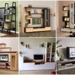 """24 ไอเดีย """"ชั้นวางทีวีและตู้โชว์"""" ประดิษฐ์จากไม้ หลากหลายรูปแบบให้เลือกชม"""