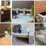 """13 ไอเดียเฟอร์นิเจอร์ DIY จาก """"บล็อกคอนกรีต"""" สำหรับตกแต่งสวนหรือพื้นที่นอกบ้านโดยเฉพาะ"""