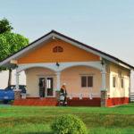 แบบบ้านชั้นเดียวแนวชนบท แฝงไปด้วยความเรียบง่าย ขนาด 2 ห้องนอน 2 ห้องน้ำ 100 ตารางเมตร