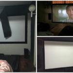 DIY เนรมิตโรงหนังในบ้านตัวเอง ดูสบายไม่ง้อโรง ด้วยงบประมาณเพียง 1,000 บาท