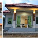 บ้านชั้นเดียวสีขาวแนวร่วมสมัย 2 ห้องนอน ซ่อนความหรูเล็กๆ ไว้ภายใน ก่อสร้างด้วยงบเพียง 620,000 บาท