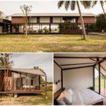 ไอเดียบ้านพักสไตล์รีสอร์ท บ้านไม้โครงสร้างเหล็ก มีทั้งบ้านหลังใหญ่ หลังเล็ก แยกกันให้เป็นส่วนตัว