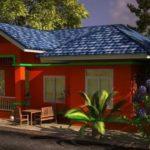 บ้านสไตล์ร่วมสมัย ดีไซน์ที่เรียบง่าย แต่โทนสีโดนเด่น 3 ห้องนอน 1 ห้องน้ำ