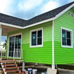 บ้านชั้นเดียวโครงสร้างเหล็ก ยกพื้นสูงมีระเบียง ก่อสร้างง่ายประหยัดงบ เพียง 440,000 บาท
