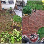 ปูพื้นอิฐมอญสวนข้างบ้านด้วยตัวเอง เปลี่ยนพื้นที่ว่างๆ ให้ดูดีขึ้นแบบง่ายๆ ด้วยงบไม่ถึง 1,000 บาท
