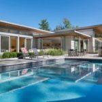 บ้านวิลล่าสไตล์โมเดิร์น โชว์โครงสร้างไม้ พร้อมสระว่ายน้ำและพื้นที่พักผ่อนกลางแจ้ง