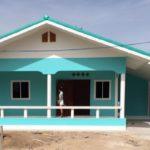 บ้านชั้นเดียวหลังคาหน้าจั่ว โทนสีฟ้าสดใส คุมงานและซื้อของเองแบบไม่ง้อผู้รับเหมา จบงานที่ 5 แสนต้นๆ