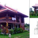 แบบบ้านไม้เรือนไทยประยุกต์ มีใต้ถุนบ้าน พร้อมระเบียงโปร่ง เปิดรับความอบอุ่นของบรรยากาศชนบท